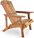 VonHaus Adirondack Chair - Outdoor Garden Furniture made from Acacia Hardwood with Oiled Finish