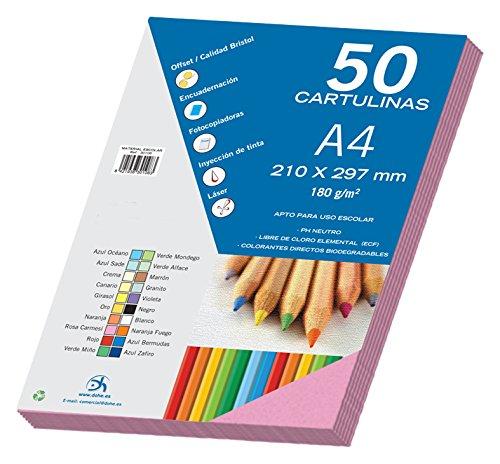 dohe-30097-pack-de-50-cartulinas-a4-color-rosa-carmesi
