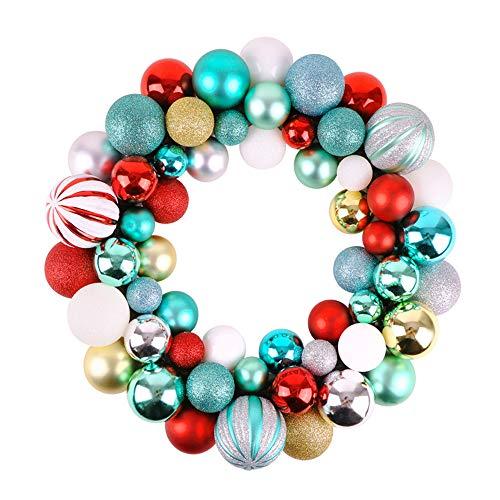 Victor's workshop palline di natale palle di natale ghirlanda natalizia decorazioni natalizie ghirlanda Ø 35 cm palline di natale (ross & verde & bianca)