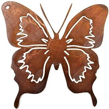 Schmetterling Falter Rostoptik braun Metall für Innen /& außen Wandschmuck Deko