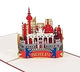 Berlin Skyline - 3D Karte / PopUp Karte / Grußkarte - Souvenir aus der Hauptstadt