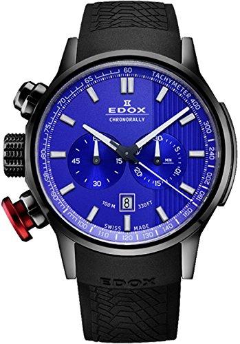 Edox chronorally orologio Uomo Analogico al Al quarzo con cinturino in...
