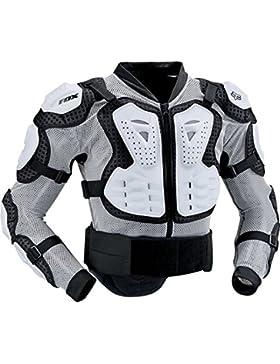 Fox Protektorenjacke Titan Sport - Chaqueta de ciclismo para hombre, color weiß, talla L