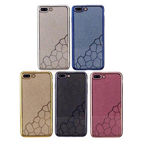 Hülle für iPhone 7 plus , Schutzhülle Für iPhone 7 Plus Galvanisieren Kleine Würfel TPU Schutzmaßnahmen Rückseiten Fall Fall ,hülle für iPhone 7 plus , case for iphone 7 plus ( Color : Gold ) Silver
