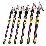 Fishaneoosg Canne à pêche télescopique en Fibre de Carbone 1.8M 2.7M 3M 3.6M Long Casting 7-13 Sections mer Carpe pêche Spinning Rod 2.7 m