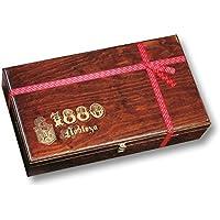 ⭐ Selección Turrones 1880 presentada en unalujosa y elegante caja de madera | Contiene un amplio surtido de turrones, dulces y chocolates |