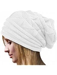 Rcool Crochet las mujeres del invierno gorro de lana Tejer Beanie  casquillos calientes 6 colores 92ae6284319