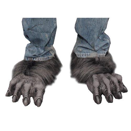 Werwolf Biest Füße Schwarz/Grau als (Füße Werwolf Kostüme)