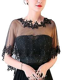3146470276d5b4 Cheerlife Elegant Damen Spitze Cape Boleros Top Spitzejacke für Brautkleid  Abendkleid Cocktaikleid Tuch Umhang