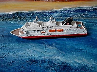 Schiffsmodell MS Nordkapp Miniatur Boot Schiff Länge ca. 18 cm Deko