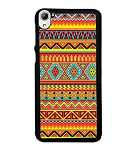 FUSON Ethnic Abstract Background Tribal Designer Back Case Cover for HTC Desire 826 :: HTC Desire 826 Dual Sim