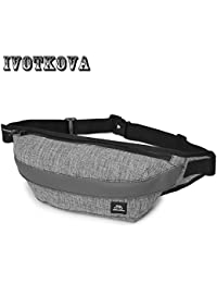 Buyworld Ivotkova Nylon Men Waist Bag For Men Fanny Pack Light Belt Bag Waist Pack Bum Purse Money Belt Waist...