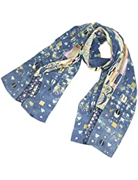 "TONY & CANDICE 100% Silk Luxurious Charmeuse Art Collection Long Scarf Shawl with Hand Rolled Edge, 62"" L*15.7"" W"