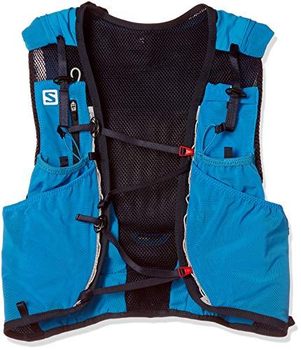 Salomon ADV Skin 12 Set Mochila Ligera de hidratación para Corriendo/Senderismo, Capacidad 12 L, Unisex Adulto, Azul (Hawaiian Surf/Night Sky), 2XS
