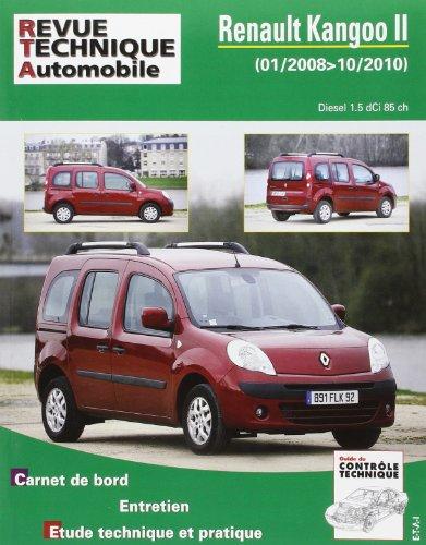 Revue Technique B765.5 Renault Kangoo II 1.5 Dci 01/2008>10/2010