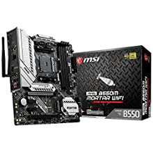 MSI MAG B550M MORTAR WIFI Motherboard mATX, AM4, DDR4, Dual M.2, LAN, 802.11ax WiFi 6 + Bluetooth 5.1, USB 3.2 Gen2, Front Type-C, Mystic Light RGB, HDMI, DisplayPort, AMD RYZEN 3000 3rd Generation