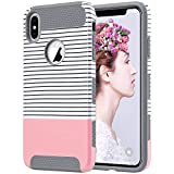 ULAK Slim Fit Case for iPhone Xs Max, Hybrid Dual Layer Scratch Resistant
