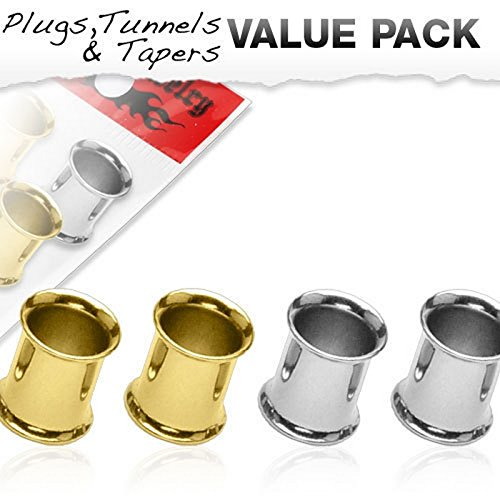Lot de 4 Piercing tunnel Taille 6 mm