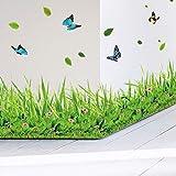 Lifme Frühling Bunte Blume Gras Schmetterling Sockelleiste Diy Home Aufkleber Baseboard Wandaufkleber Küche Badezimmer Möbel Hochzeit