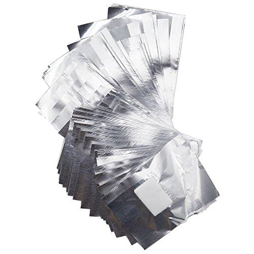 Vococal® 100 Pcs Aluminium Foil Enveloppes D'Ongle Art Soak Off Gel Polish Remover Nettoyeur