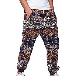 hibote Hombre Pantalones Jogging Pantalones Deportivos con cordón Loose Fit Pantalones de Estampado Suave Pantalones cómodos Pantalones Deportivos de fútbol para Gimnasio 4 Colores M-XXL