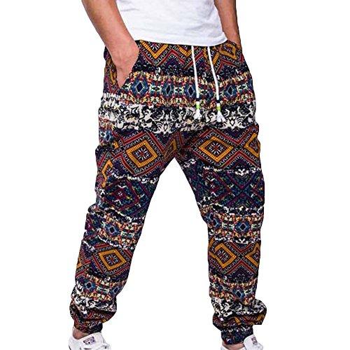 Juleya Men Jogging Pants Track Pants Loose Fit Casual Pants Sweatpants Soft Print Trousers Comfortable Sports Trousers Fitness Soccer Gym Pants With Drawstring 4 Colors M L XL XXL