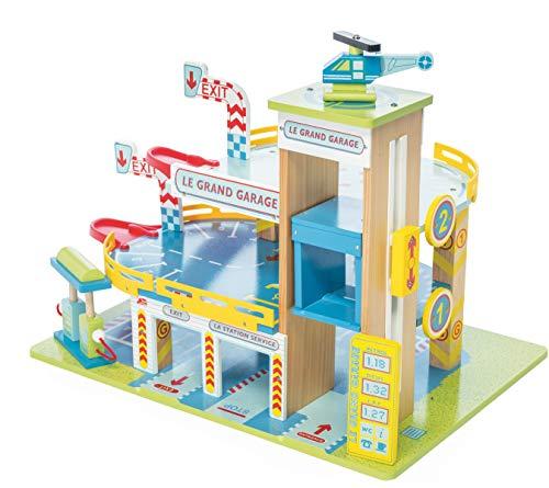 Le Toy Van  - Le grand garage (Garaje en madera con ascensor y gasolinera)