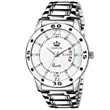 #8: Limestone Day And Date Functioning Series Analog White Dial Watch For Men/Boys - (Ls2726)