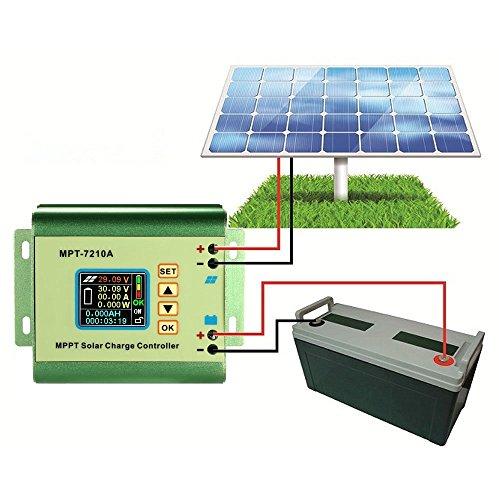 Anself MPPT Solar Laderegler Solar Panel Batterie Regulator 24/36/48/60/72V 10A Kompatible DC-DC-Boost-Ladefunktion - 2