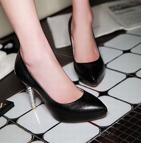 Mee Shoes Damen modern reizvoll spitz innen Plateau Trichterabsatz Geschlossen Pumps Party-Schuhe Schwarz