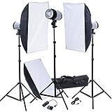 Estudio kit: Cabeza del flash, Cajas de luz 50x70 & Disparador de flash