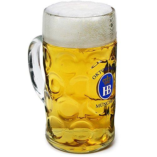 Hofbrauhaus, boccale da birra ufficiale dell'Oktoberfest, in vetro, da 1 l