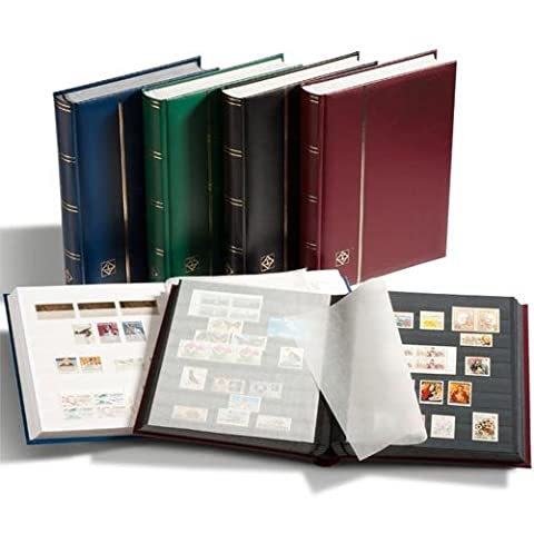 Lighthouse A4 Stock Book, 32 white pages, padded cover, black