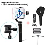 Feiyu SPG (Splash waterproof version with extra battery and Tripod )3-Axis Handheld Gimbal Stabilizer for Gopro Hero5/4/3 and Smartphone Like iPhone X/8/7 Plus 6 Plus Samsung Galaxy S8+ S8 S7 S6 S5 immagine