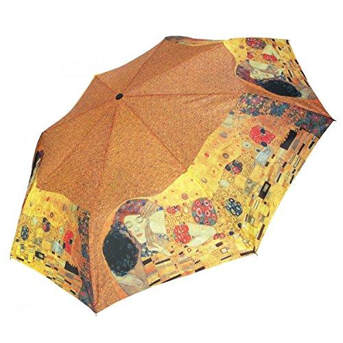 happy rain Regenschirm Taschenschirm Motiv - Der Kuss - Gustav Klimt (Regenschirm Gustav Klimt)