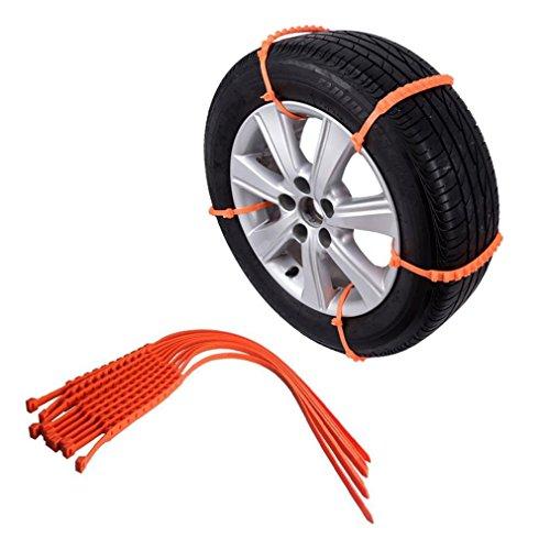 10Pcs Winter Anti-Rutsch-Ketten für Auto-Schnee-Schlamm-Rad-Reifen verdickte Reifen-Sehne Auto Schneeketten 900mm*9mm (Schlamm-reifen 17)