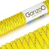 Ganzoo Paracord 550 Seil für Armband, Leine, Halsband, Nylon-Seil 30 Meter, gelb