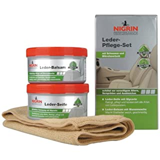 Nigrin 73170 Performance Leder-Pflege-Set Seife mit Balsam