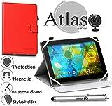 Navitech Étui Rotatif à 360° pour Tablette ASUS ZenPaD Z170C-A1-BK 7' 16 Go Rouge