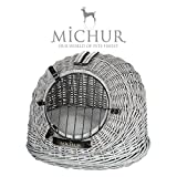 MICHUR Cosma North Sea Dune, Dog Transport Box, Cat Transport Box, Wicker, Box, Basket, Approx. 50 x 40 x 40 cm (lying area approx. 48 x 38 cm)