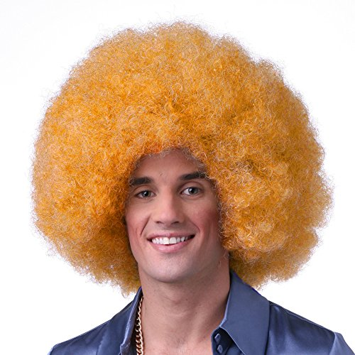 Sepia Costume Color Afro Synthetic Wig - Orange
