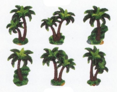 PALM TREE 3-Dimensional Magnet Set of 6 Magnets *NEW!* by KMC/KK-PalmTree -