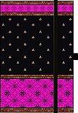 Premium Notes Small TextileIndian Sari-Pink: Notizbuch klein mit Textileinband
