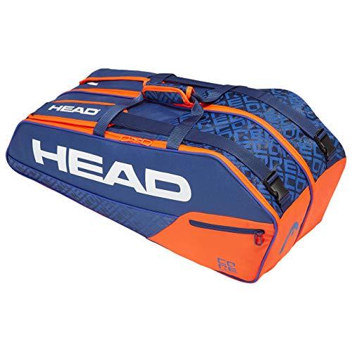 HEAD Unisex-Erwachsene Core 6R Combi Tennistasche, Blue/orange, Einheitsgröße