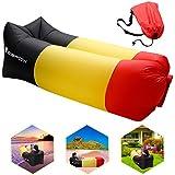 Air Canapé, icefox étanche Air Lounger Chaise longue gonflable avec sac de transport, pour dormir en extérieur, en intérieur, le retour Accoudoirs et détendre, pouf gonflable pour le camping |den strand| de pêche