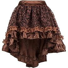 eab0272e83 ZAMME Faldas góticas ribeteadas de tul marrón de las mujeres para el corsé  ...