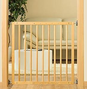 barreras de puerta: Puerta Reer de seguridad para niños con cerrojo, 106 cm.