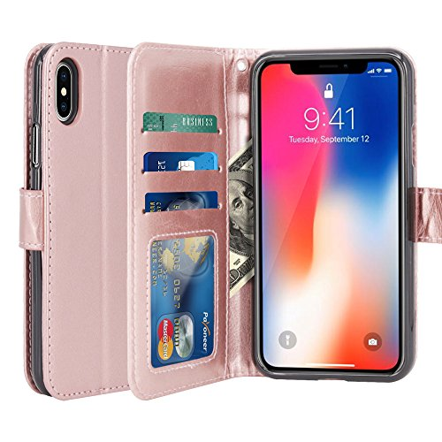 coque iphone x cuir portefeuille