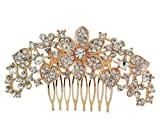 Vogue Hair Accessories Party Bridal Golden Comb Clip for Women