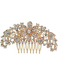 Vogue Hair Accessories Rose Gold Metal Comb Hair Clip For Women